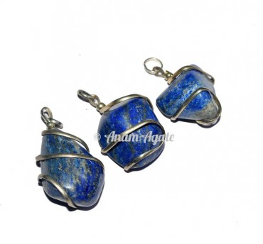 Lapis Tumbled Pendants