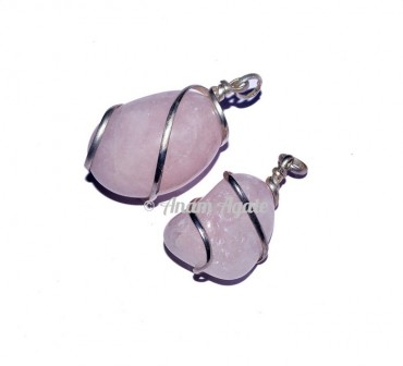 Rose Quartz Tumbled Pendants