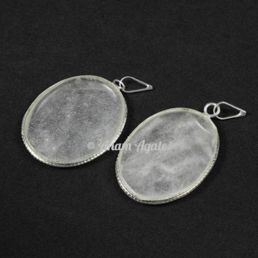 Crystal Quartz Oval Healing Pendants