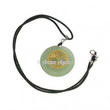 Green Aventurine Tree of Life Pendants