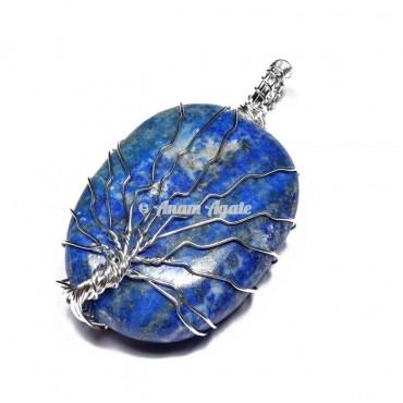 Lapis Lazuli Tree of Life Wrap Pendant