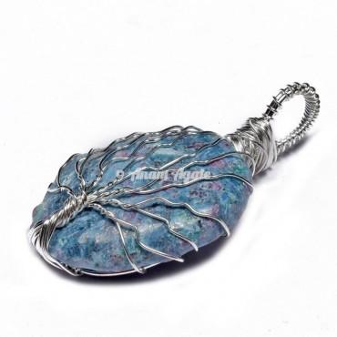 Ruby Zoisite Tree of Life Wrap Pendant