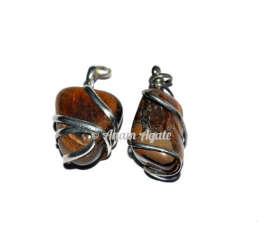 Tiger Eye Tumbled Pendants