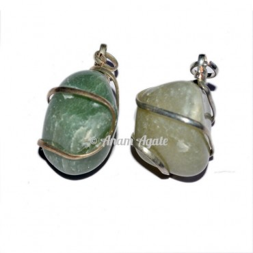 Green Aventurine Tumbled Pendants