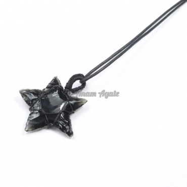 Macrame Wrapped Star Pendant