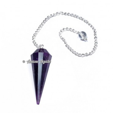 Amethyst 12 Faceted Pendulums