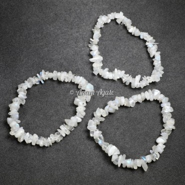 Rainbow Moonstone Chips Bracelets