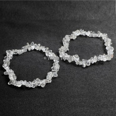 Clear Quartz Chips Bracelets