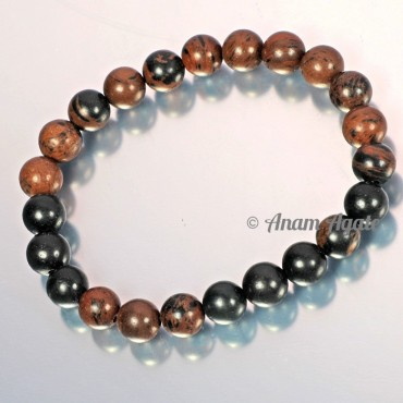 Brown and Black Jasper Bracelets
