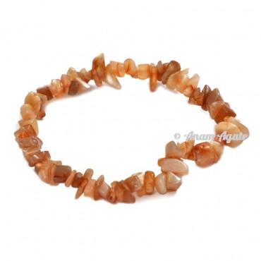 Peach Moonstone Chips Bracelets