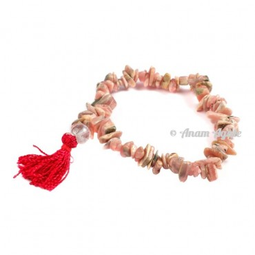 Rhodonite Power Chips Bracelets