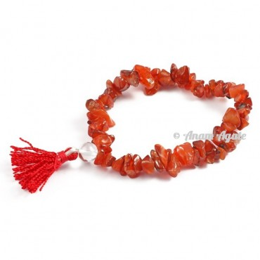 Carnelian Power Chips Bracelets