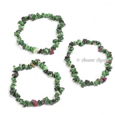 Ruby Zoisite Chips Bracelets