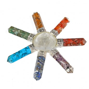Orgonite Chakra Generator with crystals