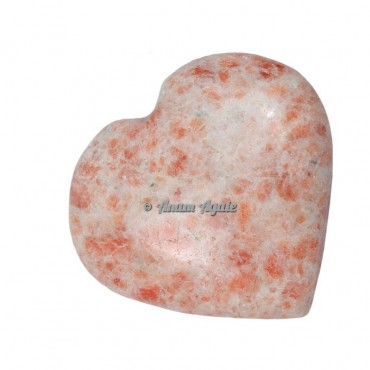 Sunstone Gemstone Heart