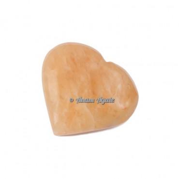Golden Quartz Gemstone Heart