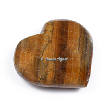 Tiger Eye Gemstone Heart