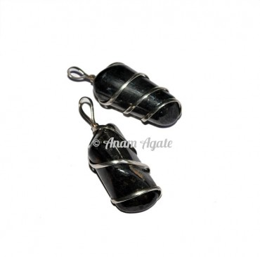 Hematite Tumbled Pendants