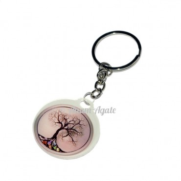 Tree of life Design Energy Keyring