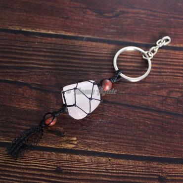 Rose Quartz Keychain Charms
