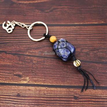 Sodalite Keychain Charms
