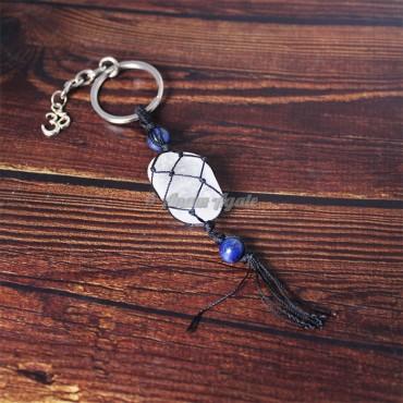 Crystal Quartz Keychain Charms
