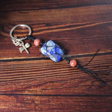 Lapis Lazuli Keychain Charms