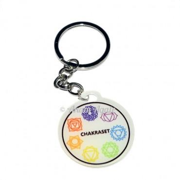 7 Chakra Symbol Design Keyring