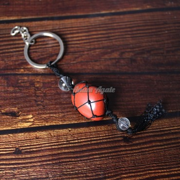 Red Jasper Keychain Charms