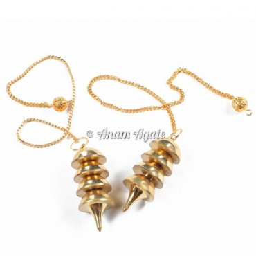 Osiris  Brass Dowsing Pendulums