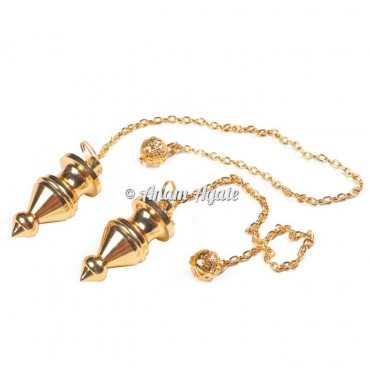 Egyptian Golden Carved Pendulums