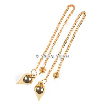 Golden Drop Brass Pendulums