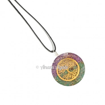 Amethyst and Green Tree of life Pendants