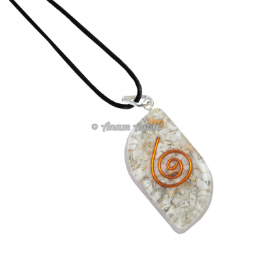 Howlite Orgonite Eye Pendant EMF Protection
