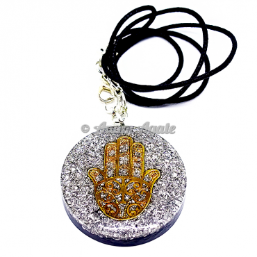 Silver Dust Orgonite Pendant EMF Protection