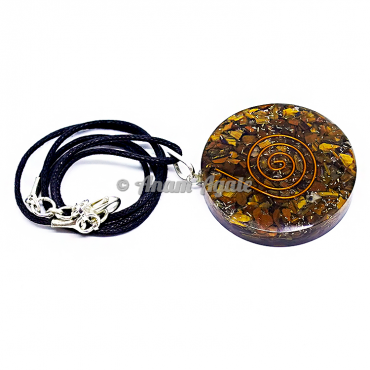 Tiger Eye Orgonite Pendant EMF Protection