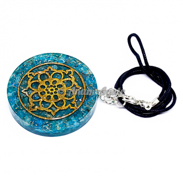 Aqua Orgonite Pendant EMF Protection