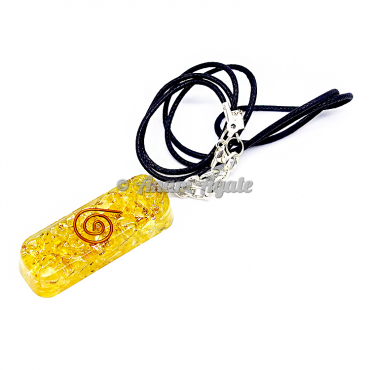 Citrine Orgonite Pendant EMF Protection