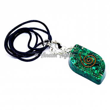 Malachite Orgonite Eye Pendant EMF Protection