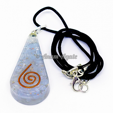 Opalite Orgonite Drop Shape Pendant EMF Protection