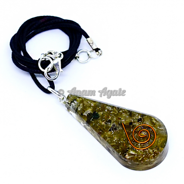 Peridot Orgonite Pendant EMF Protection