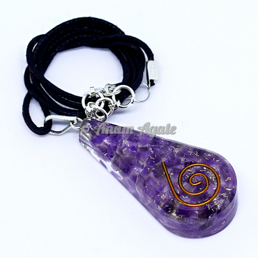 Amethyst Orgonite Pendant EMF Protection