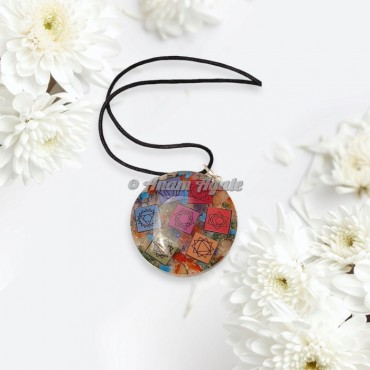 Seven Chakra Orgonite Pendant
