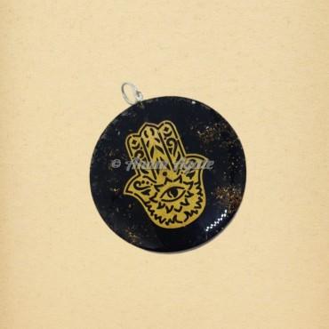 Hamsa Hand Orgonite Pendant