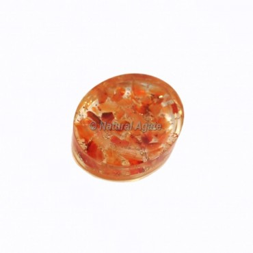Carnelian Crystal Orgonite Worry Stone