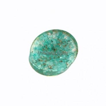 Aqua Dyed Orgonite Worry Stone