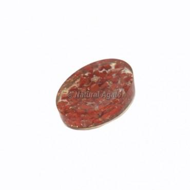 Red Jasper Crystal Orgonite Worry Stone
