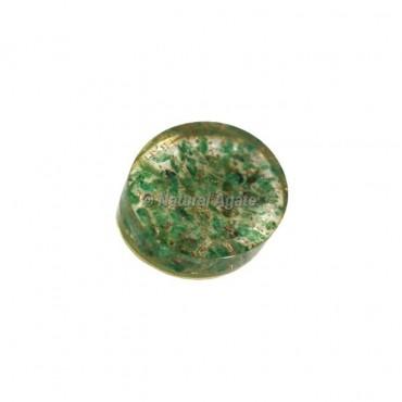 Green Aventurine Crystal Orgonite Worry Stone