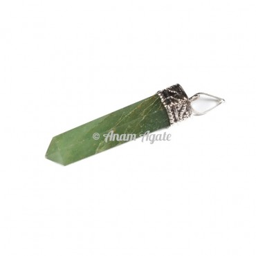 Green Aventurine Cap Pencil Pendants