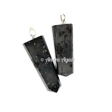 Hematite Flat Pencil Pendants
